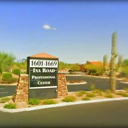 signboard-near-Ronald-G-Derianas-dentistry-office-just-few-paces-away-from-Bank-of-America-Financial-Center-Tucson-AZ